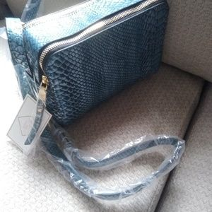 New blue crossbody bag
